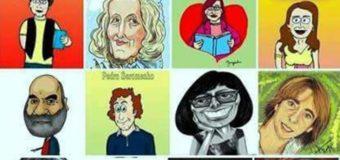 """Exposição """"Caricaturas de escritores portugueses para a infância"""" (BE ESS, 17 de janeiro a 9 de fevereiro)"""